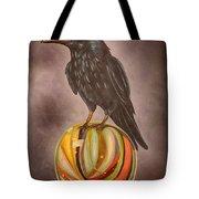 Crow On Marble Edit 3 Tote Bag