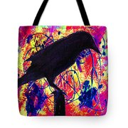 Crow On Red Tote Bag