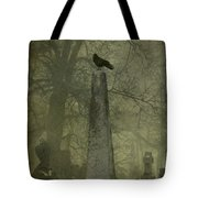 Crow On Spire Tote Bag