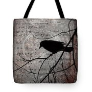 Crow Thoughts Collage Tote Bag