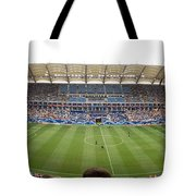 Crowd In A Stadium To Watch A Soccer Tote Bag