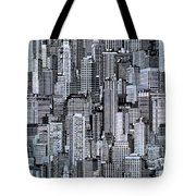 Crowded City Tote Bag