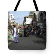 Crowded Street And Devotees In Front Of Golden Temple In Amritsar Tote Bag