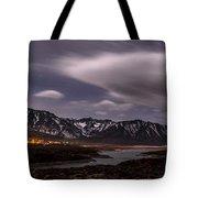 Crowley Lake At Night Tote Bag
