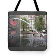 Crown Fountain Play Tote Bag