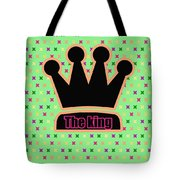 Crown In Pop Art Tote Bag by Tommytechno Sweden