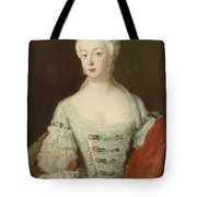 Crown Princess Elisabeth Christine Von Preussen, C.1735 Oil On Canvas Tote Bag