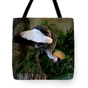Crowned Crane Tote Bag