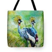 Crowned Cranes Tote Bag