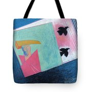 Crows And Geometric Figure Tote Bag