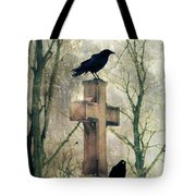 Urban Graveyard Crows Tote Bag