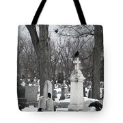Crows In Gothic Winter Wonderland Tote Bag