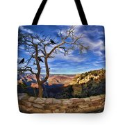 Crows Of The Grand Canyon Tote Bag