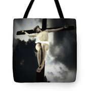 Crucified Christ Tote Bag