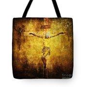 Crucified Via Dolorosa 12 Tote Bag by Lianne Schneider