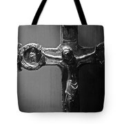 Crucifix Illuminated Tote Bag