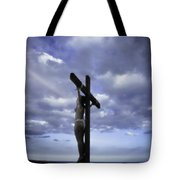 Crucifix In The Light Tote Bag