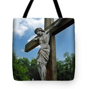 Crucifix Statue St James Cemetery Sewickley Heights Pennsylvania Tote Bag
