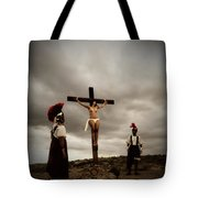 Crucifixion Scene Of Roman Movie Tote Bag