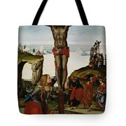 Crucifixion With Mary Magdalene Tote Bag