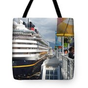 Cruise Dockside In Vancouver Tote Bag