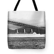 Cruise Ship Under Sf Bridge Tote Bag