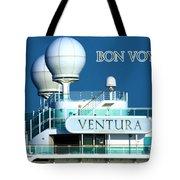 Cruise Ship Ventura's Radar Domes Tote Bag by Terri Waters