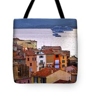 Cruise Ships At St.tropez Tote Bag
