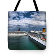 Cruise Ships Port Everglades Florida Tote Bag