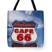 Cruisers Cafe 66 Sign Tote Bag