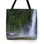 Cruising By A Waterfall Tote Bag