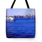 Cruising Elliott Bay Tote Bag