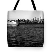 Cruising Elliott Bay Black And White Tote Bag