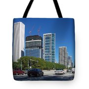 Cruising North On Lake Shore Drive In Chicago Tote Bag