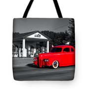 Cruising Route 66 Dwight Il Selective Coloring Digital Art Tote Bag