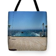 Cruising The Pacific Tote Bag