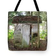 Crumbling Old Outhouse Tote Bag