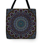 Crushed Blue Velvet Kaleidoscope Tote Bag