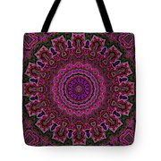 Crushed Pink Velvet Kaleidoscope Tote Bag