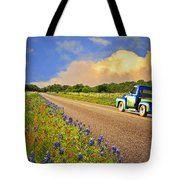 Crusin' The Hill Country In Spring Tote Bag