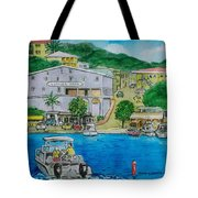 Cruz Bay St. Johns Virgin Islands Tote Bag