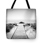 Crystal Cove Overlook Black And White Picture Tote Bag