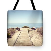 Crystal Cove Overlook Retro Picture Tote Bag by Paul Velgos