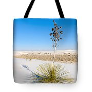 Crystal Dune Tree At White Sands National Monument In New Mexico. Tote Bag