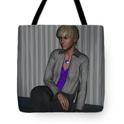 Crystal In Gray Waiting Tote Bag