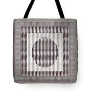 Crystal White And Gray Dots Design Pattern Shade Deco Decoration Tote Bag