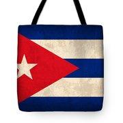 Cuba Flag Vintage Distressed Finish Tote Bag