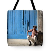 Cuban Man And His Cigar Tote Bag