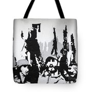 Cuban Revolution Painted On A Wall Tote Bag