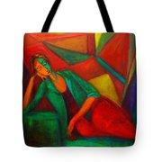 Cubism Contemplation  Tote Bag